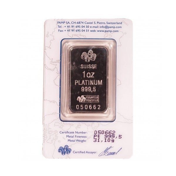 1 ounce P.A.M.P platinum bar