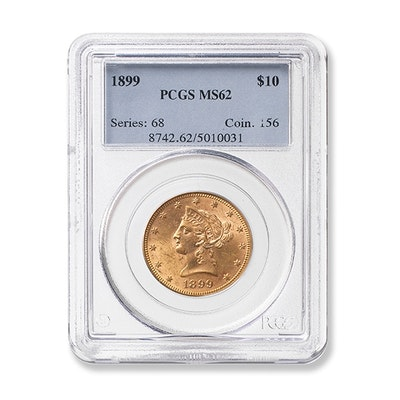 1899 Graded $10 Liberty Gold Coin