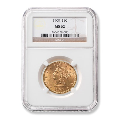 1900 Graded $10 Liberty Gold Coin