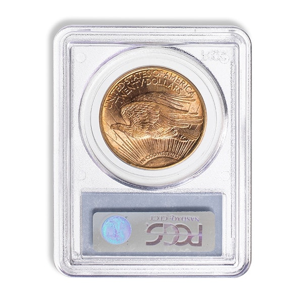 Gold Coin in Packaging