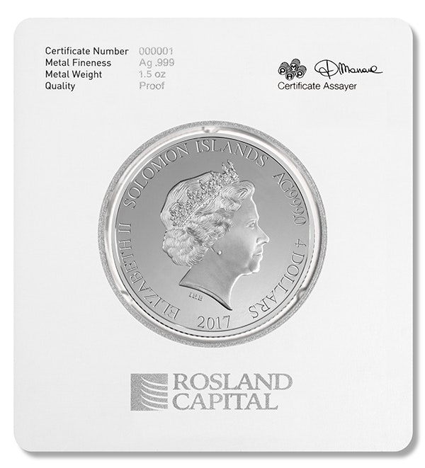 Liberty Silver Coin Card Back