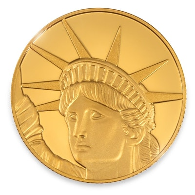 Liberty Gold Coin Card back