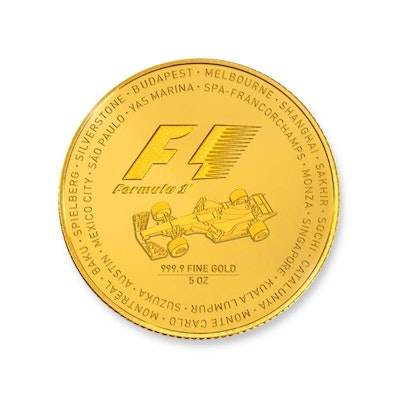 2017 Formula 1® 5-oz Gold Coin