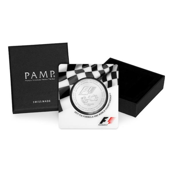 formula 1 silver coin car box