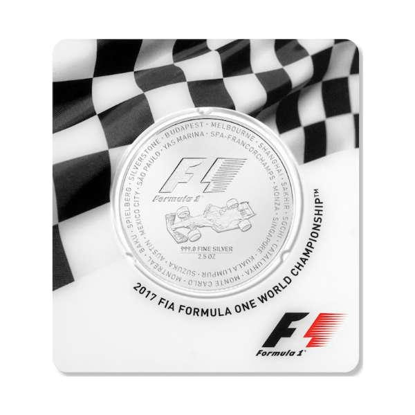 formula 1 silver coin car card