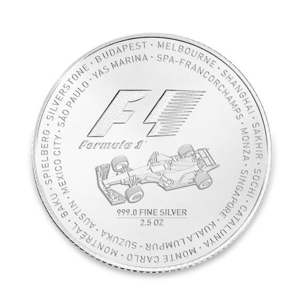 formula 1 silver coin back