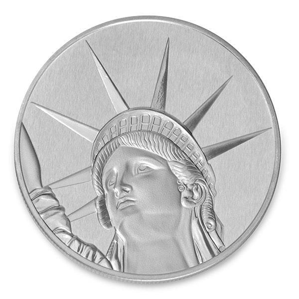 Liberty Silver Coin Back