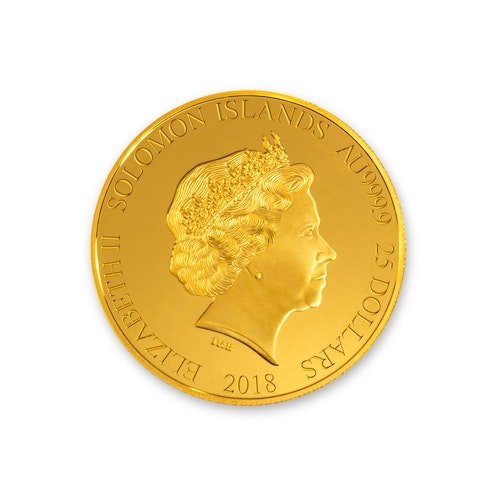 2018 Formula 1<sup>®</sup> 1/4-oz Gold Coin