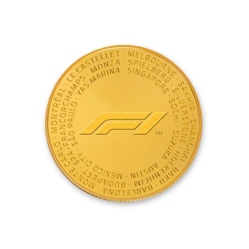 Formula 1<sup>®</sup> 1/4-oz Gold Coin 2018
