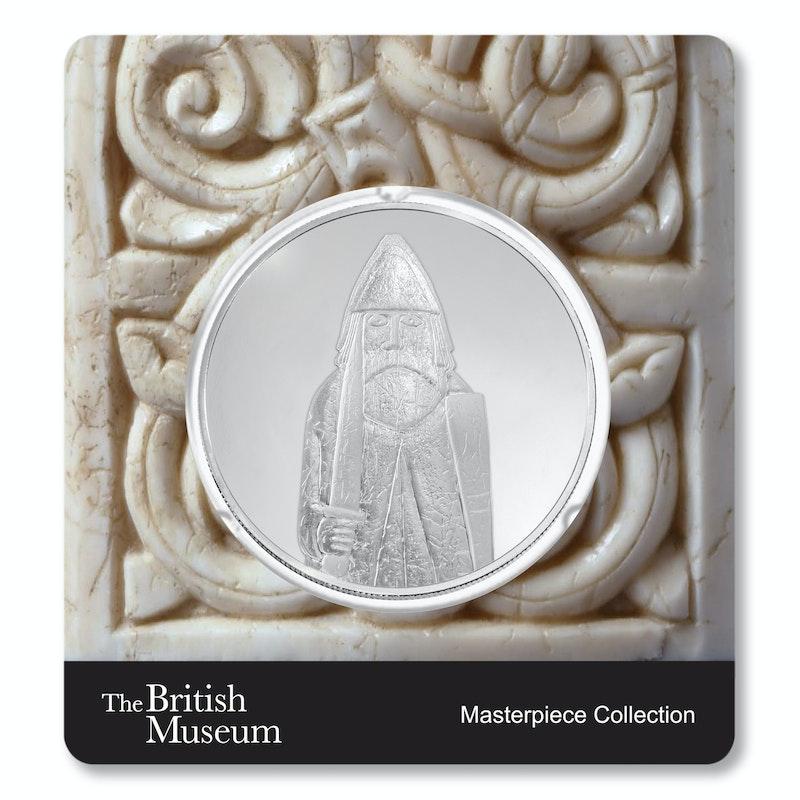British Museum Chessmen - The Warder - 2.5 oz Silver Coin