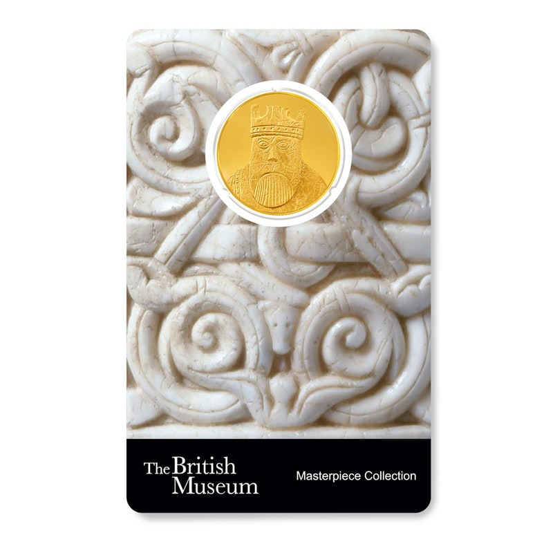 British Museum Chessmen - The King - 1/4 oz Gold Coin