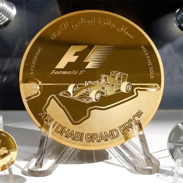Formula 1 Abu Dhabi Gold Coin