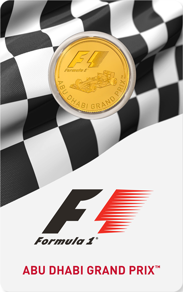 Formula 1 Gold Coin Card Front