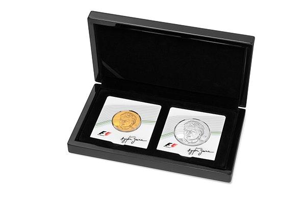 Ayrton Senna Silver Box Coin Front