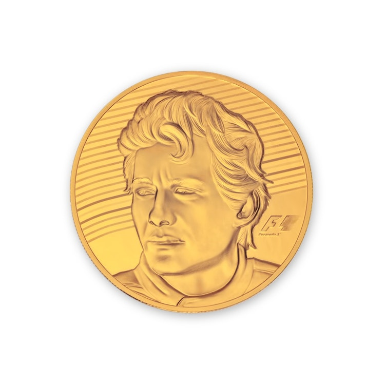 Ayrton Senna Gold Coin Back