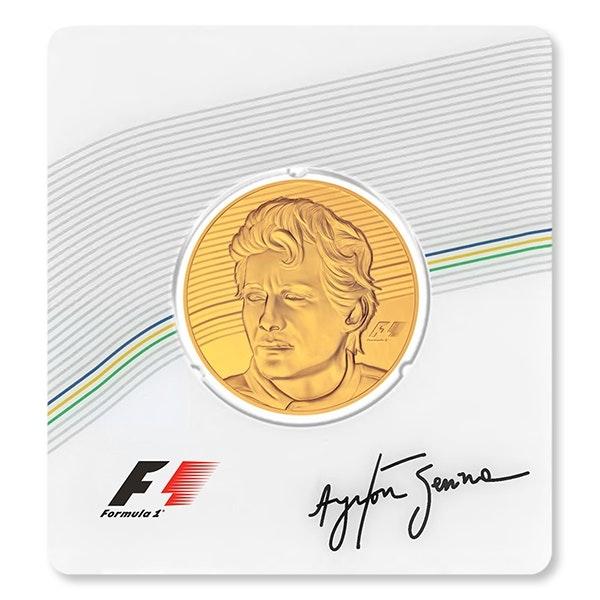 Ayrton Senna Gold Coin Front