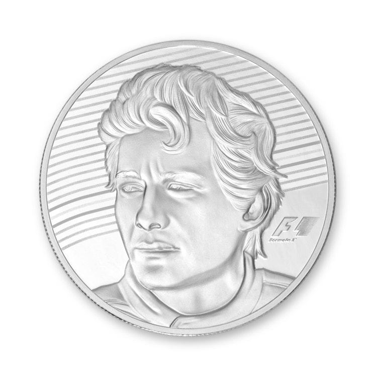 Ayrton Senna Silver Coin Back