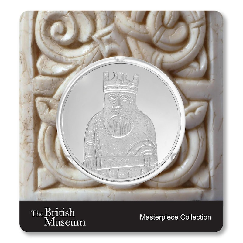 British Museum Lewis Chessmen - The King - 2.5 oz Silver Coin