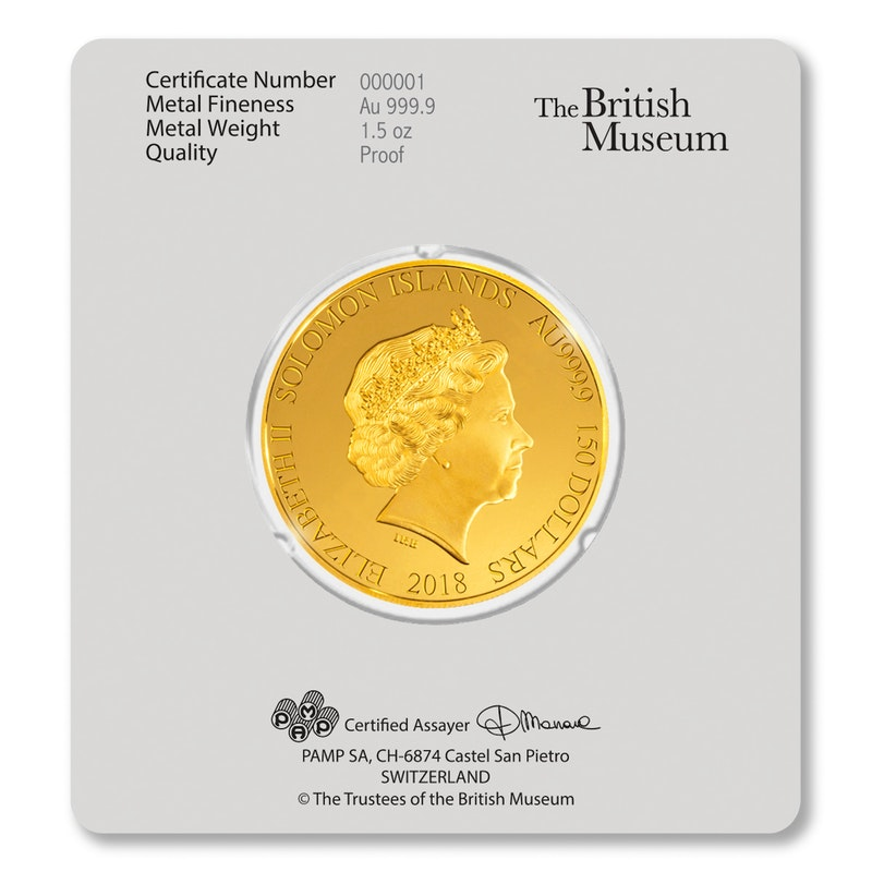 British Museum Gold card back