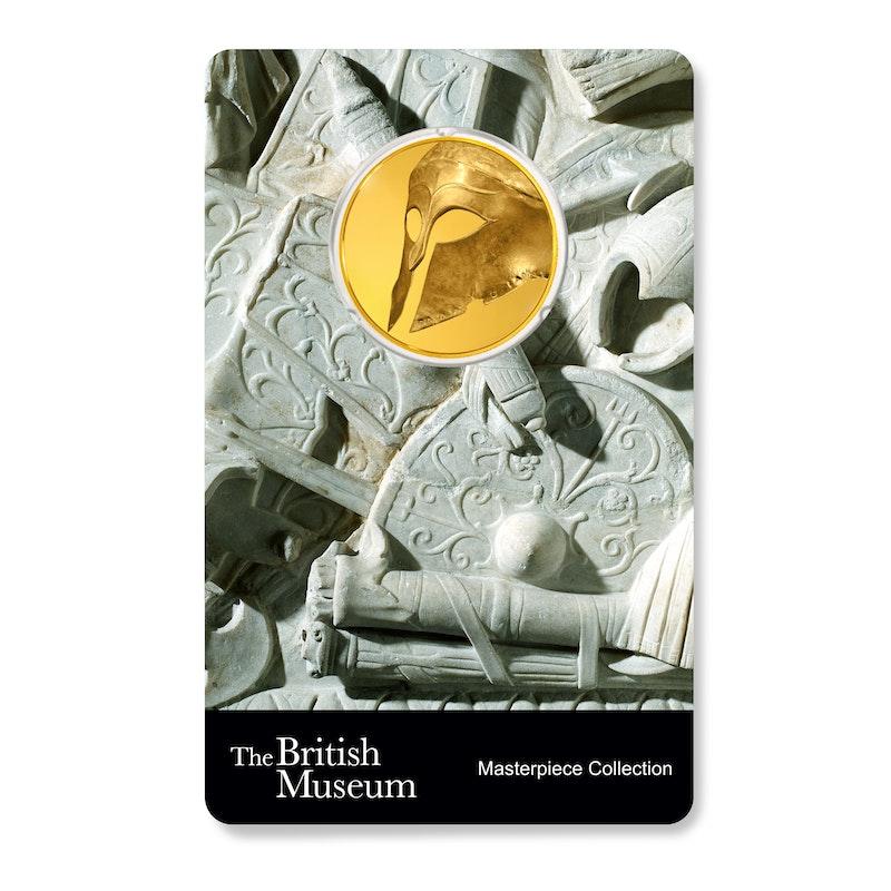 British Museum Greek Helmet 1/4 oz Gold Coin