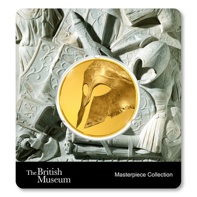 British Museum Greek Helmet 1.5 oz Gold Coin