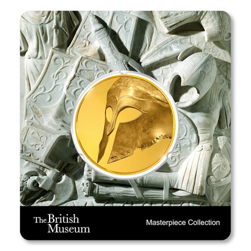British Museum Greek Helmet 1.5 oz Gold Coin