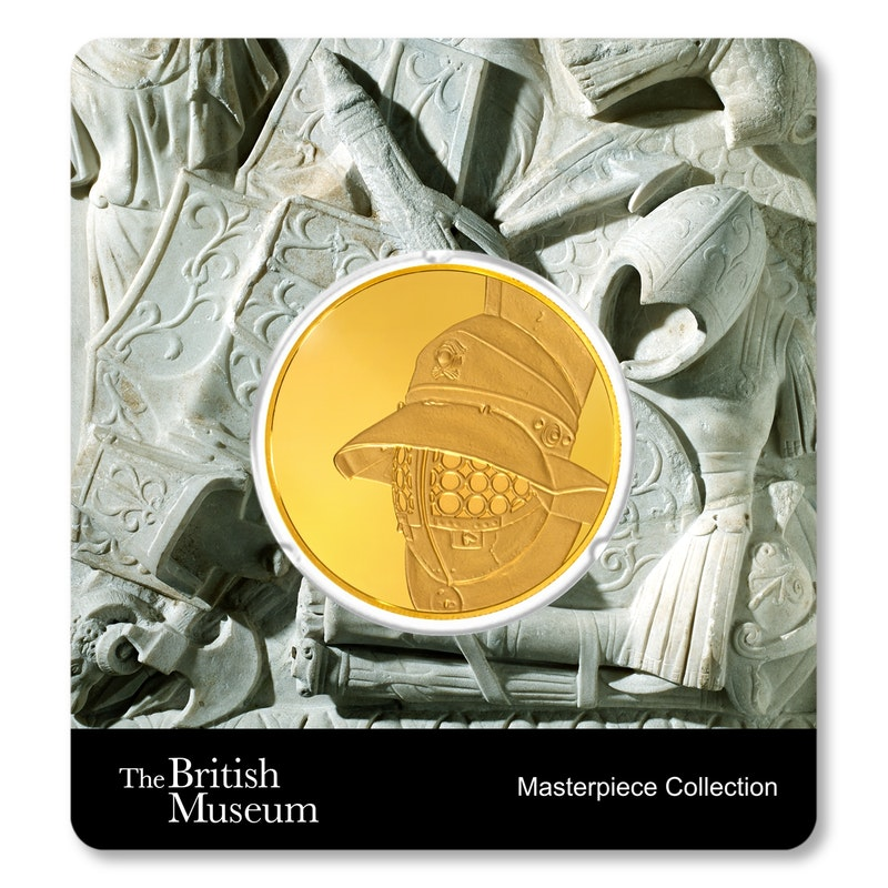 British Museum Gladiator's Helmet 1.5 oz Gold Coin