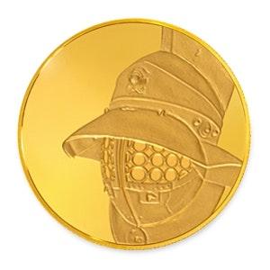 British Museum Gladiator's Helmet 1/4 oz Gold Coin
