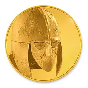 British Museum Anglo-Saxon Sutton Hoo Helmet 1/4 oz Gold Coin