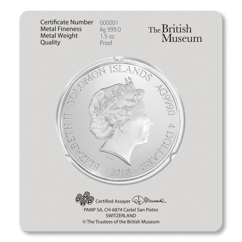 British Museum Silver Card back