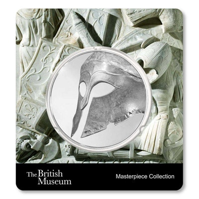 British Museum Greek Helmet 1.5 oz Silver Coin