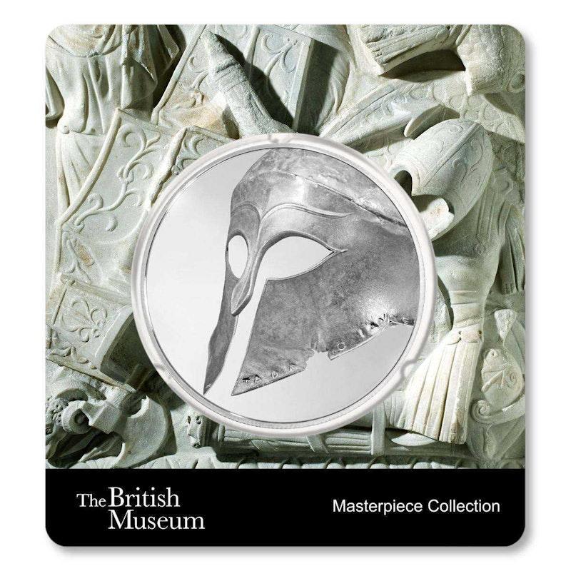 British Museum Greek Helmet 1.5 oz Silver Coin