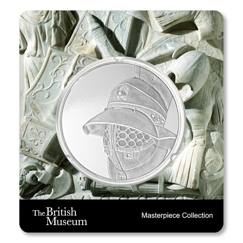 British Museum Gladiator's Helmet 1.5 oz Silver Coin