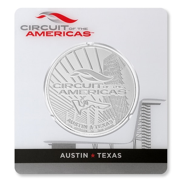 circuit of the americas silver coin front