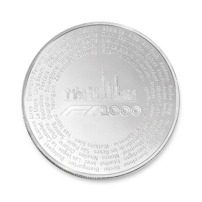 Formula 1<sup>®</sup>  1000 2.5 oz Silver Coin