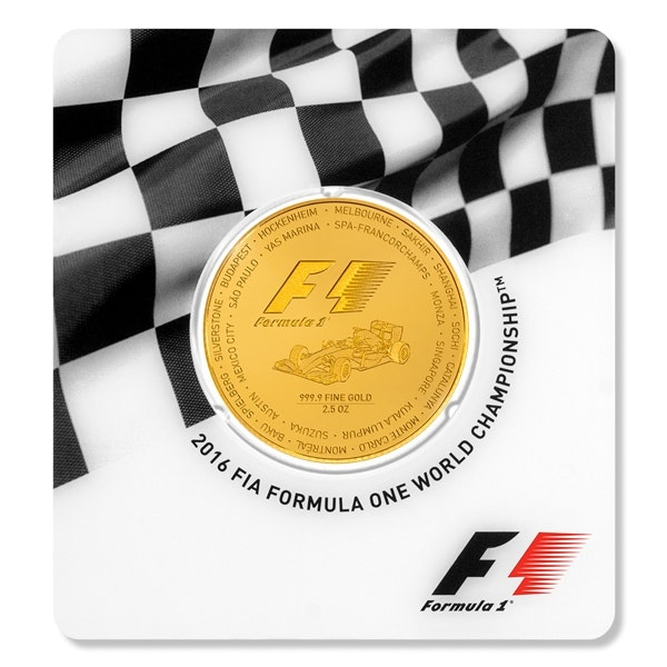 Formula 1 Gold Coin Packaging