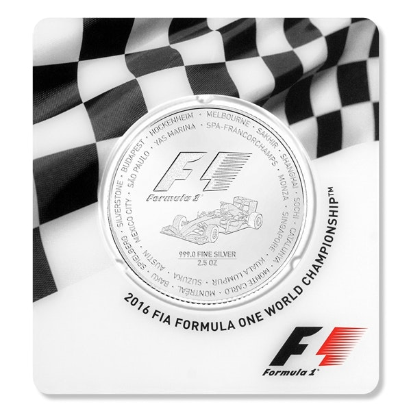 formula 1 silver coin packaging