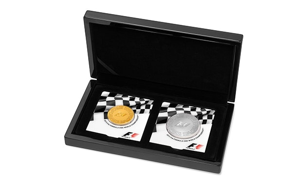 Formula 1 Silver Gold Coin Box