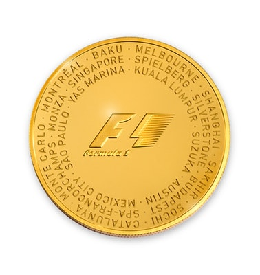 Formula 1 Gold Coin Back