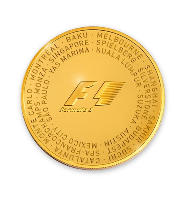 Formula 1 Gold Coin Back