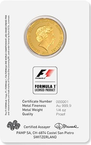 Formula 1 Abu Dhabi Card Coin Front