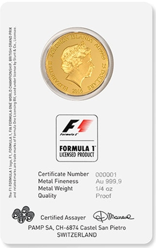 Formula 1 Card Coin Front