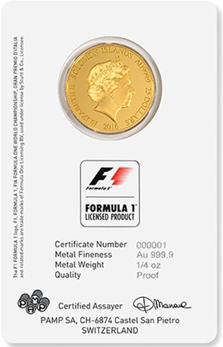 Formula 1 Grand Prix Coin Front card