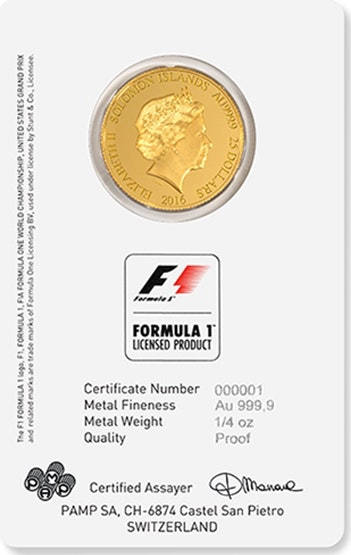 Formula 1 Coin Front
