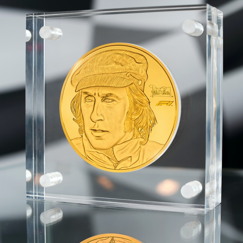 Sir Jackie Stewart Gold Kilo Coin
