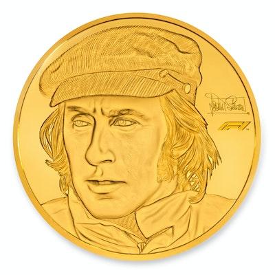 Sir Jackie Stewart Gold Kilo Coin