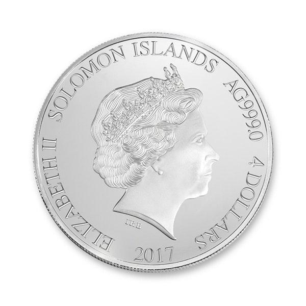 pga presidents cup coin silver front