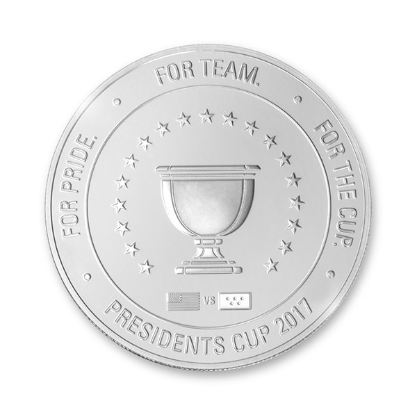 pga presidents cup coin silver back