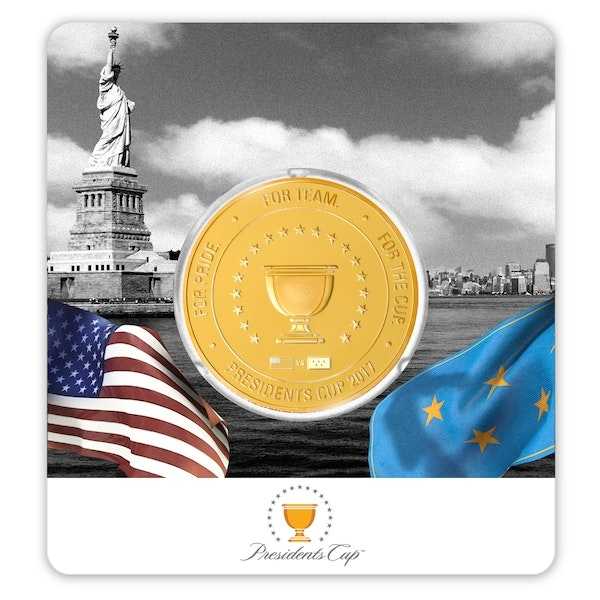 pga presidents cup coin gold front