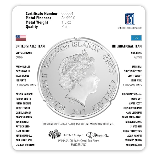 presidents cup packaging silver back